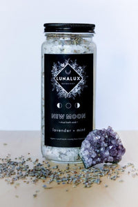 New Moon Bath Soak | Lavender + Mint - SABEENE