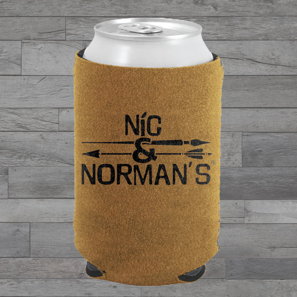 WS-Nic & Norman's Suede-ish Koozie (250pc min)