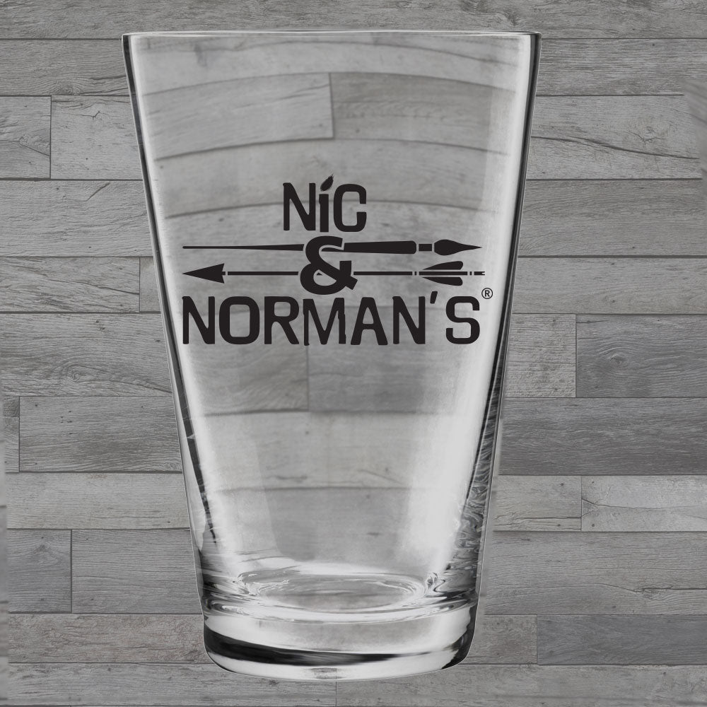 Nic & Norman's 16oz Pint Glass