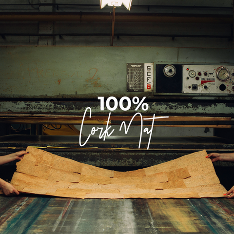 100% cork yoga mat in the factory
