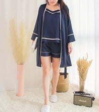 Load image into Gallery viewer, CLARA 3-PIECE LOUNGEWEAR (MIDNIGHT BLUE)