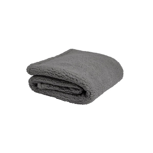Sherpa Throw - Charcoal