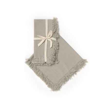 Cotton Fringe Napkin - Greige - Set of 4