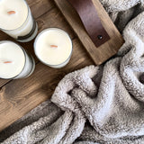 Hot Apple Cider Wood Wick Soy Candle