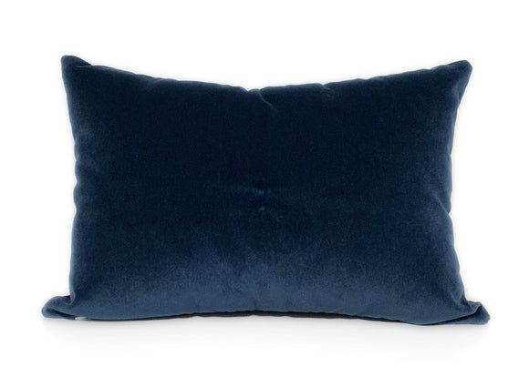 Luxe Blue Velvet Pillow - 14x20