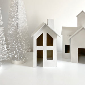 White Chipboard Christmas House