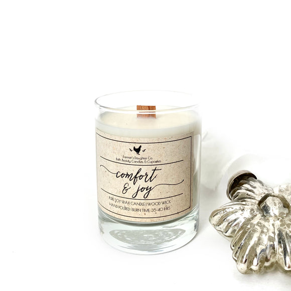 Comfort & Joy Wood Wick Soy Candle