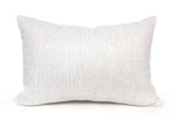 White Herringbone Designer Pillow - 14x20