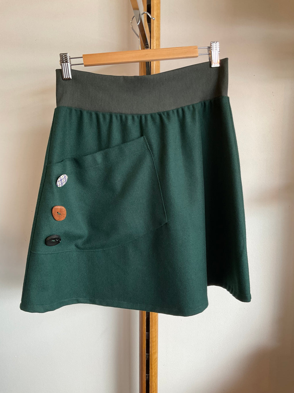Mim 100% Wool Pocket Skirt