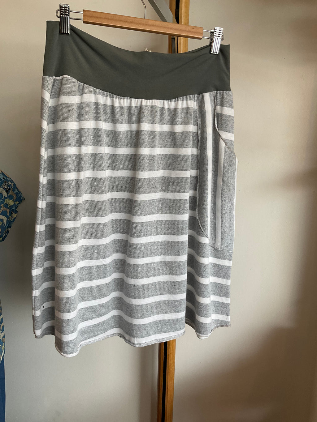Mim Stripe Cotton Pocket Skirt
