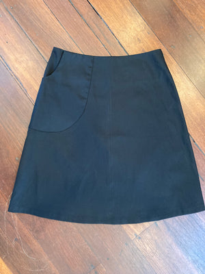 Ena My Black  Drill Skirt