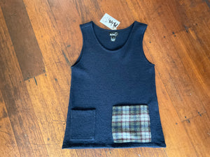MiM Wool Pocket Vest Navy