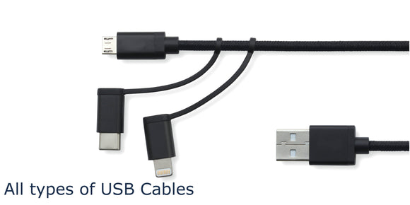 USB Cables for Charge, OTG, Data Transfer