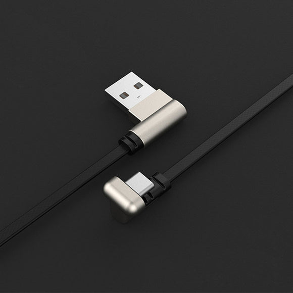 180° Dual Angled Flat USB-C Cable for Gaming (to charge Smartphones)