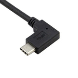 USB-A to USB-C 90 Degree Right Angle Extension Cable / Data Sync & Charge Cord
