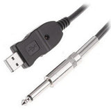 "3M/10ft Long USB Guitar Cable Guitar Bass to PC USB Recording Cable (USB to Audio 1/4"" 6.3mm Male Cable)"