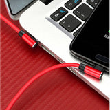 Dual Right Angle USB Charge Cable for iPhone and iPad