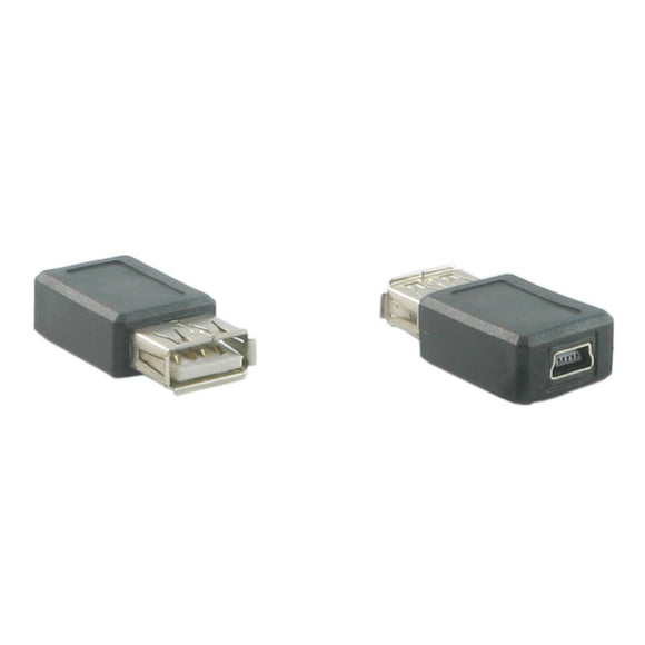 USB Adapter (USB Type A Female to Mini USB 5 pin Female Converter)