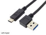 1M / 3.3Feet Right Angle USB 3.0 USB-A Male to USB-C Male Adapter Cable / Cord / Conversion Cable