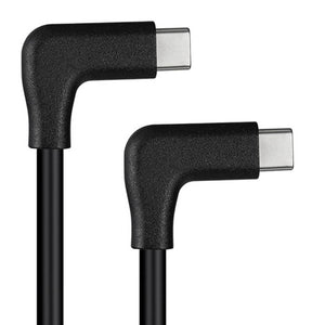 90 Deg Right Angle USB-C male to USB-C male Charge Cable / Extension Cable