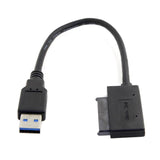 "USB 3.0 to Micro SATA 7+9 16 Pin 1.8"" 90 Degree Angled Hard Disk Driver SSD Adapter Cable"