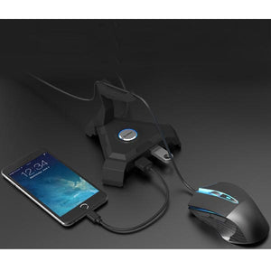 2-in-1 Gaming Mouse Cord Controller and Desktop USB 3.0 SuperSpeed USB HUB