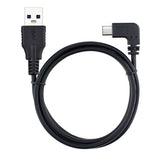 100cm / 3.3ft Right Angle USB-C Male to USB-A Male Charge / Data Sync Cable (USB-C to USB-A Extension Cable)