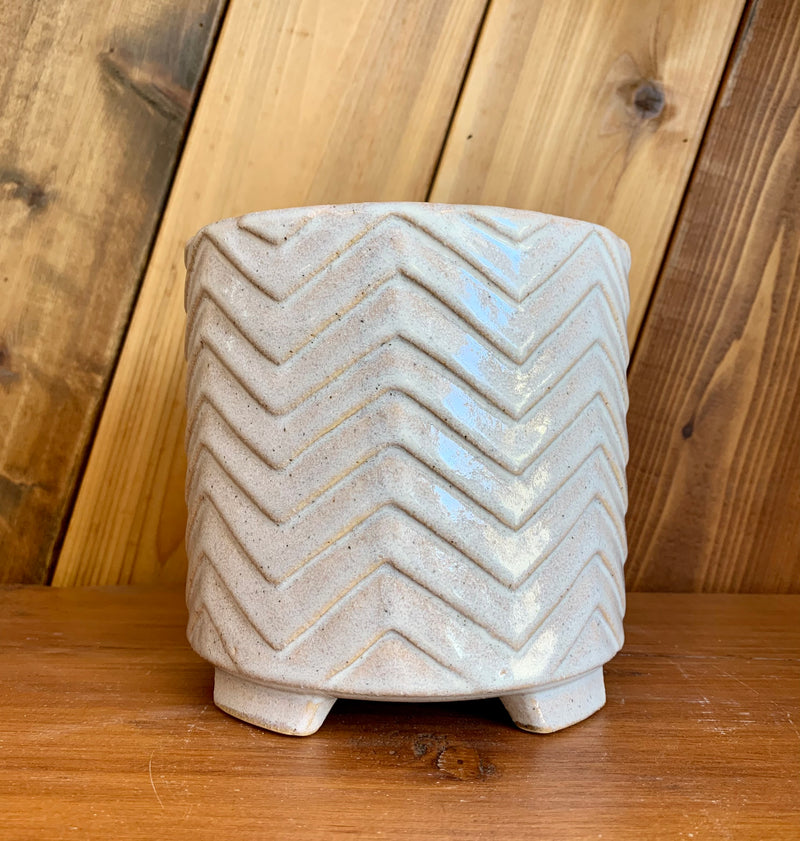 Ceramic Planter | Iridescent with Feet