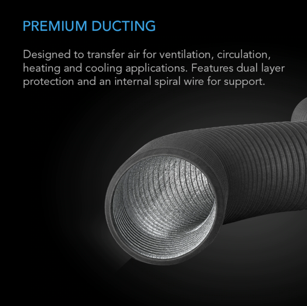 Flexible Four-Layer Ducting | 25-ft long