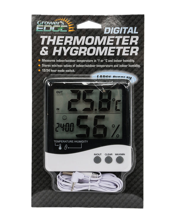 Large Display Digital Thermometer & Hygrometer