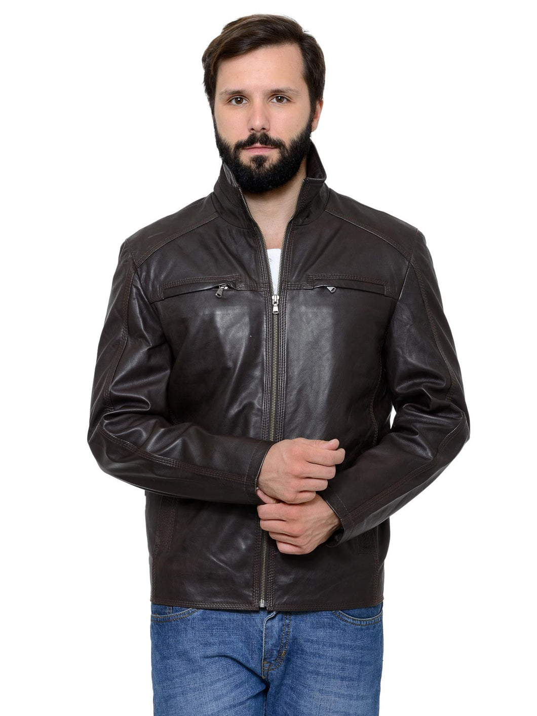 Teakwood Men's Brown Leather Jackets