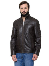 Load image into Gallery viewer, Teakwood Men's Brown Leather Jackets