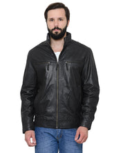 Load image into Gallery viewer, Teakwood Men's Black Leather Jackets