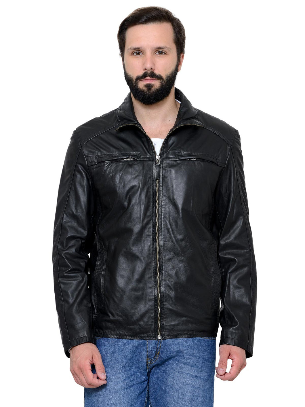Teakwood Men's Black Leather Jackets
