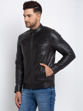 Load image into Gallery viewer, Teakwood Leathers  Men's 100% Genuine Black Leather Jacket