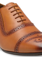Load image into Gallery viewer, Teakwood Genuine Leathers Men Tan  Formal Oxfords Shoes