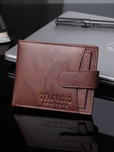 Load image into Gallery viewer, Teakwood Men Genuine Leather Bi Fold Clip Wallet (Antique Brown)