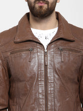 Load image into Gallery viewer, Teakwood Leathers Brown Men's 100% Genuine Leather Jacket