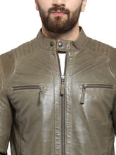 Load image into Gallery viewer, Teakwood Leathers Olive Green Men's 100% Genuine Leather Jacket