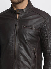 Load image into Gallery viewer, Teakwood Leathers Brown Genuine Leather Jacket