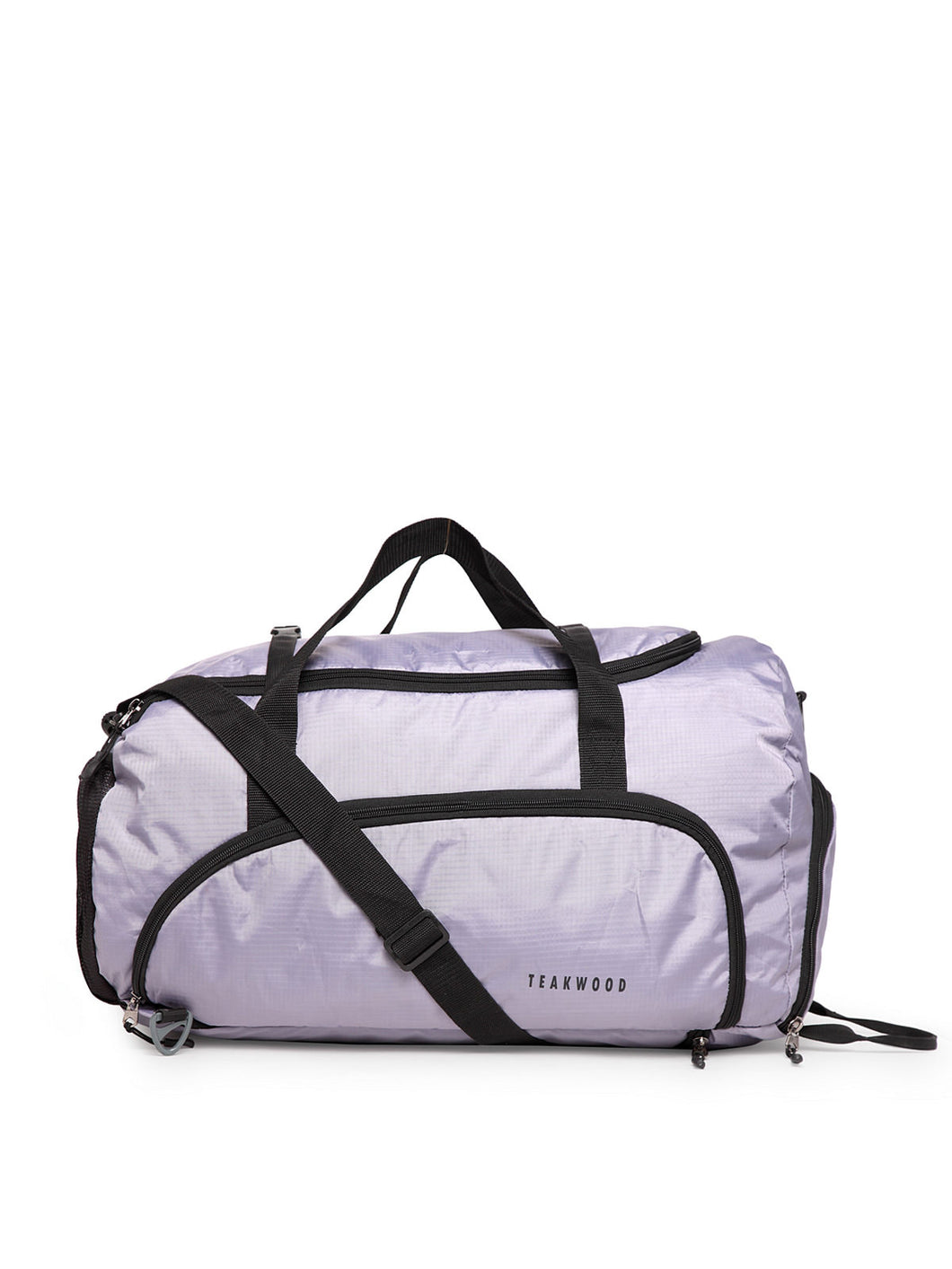 Teakwood Polyester Duffel Bag - Grey