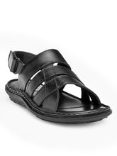 Load image into Gallery viewer, Teakwood Black Daily Wear Sandals