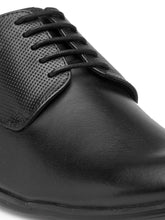Load image into Gallery viewer, Teakwood Genuine Leather Black Derby Shoes