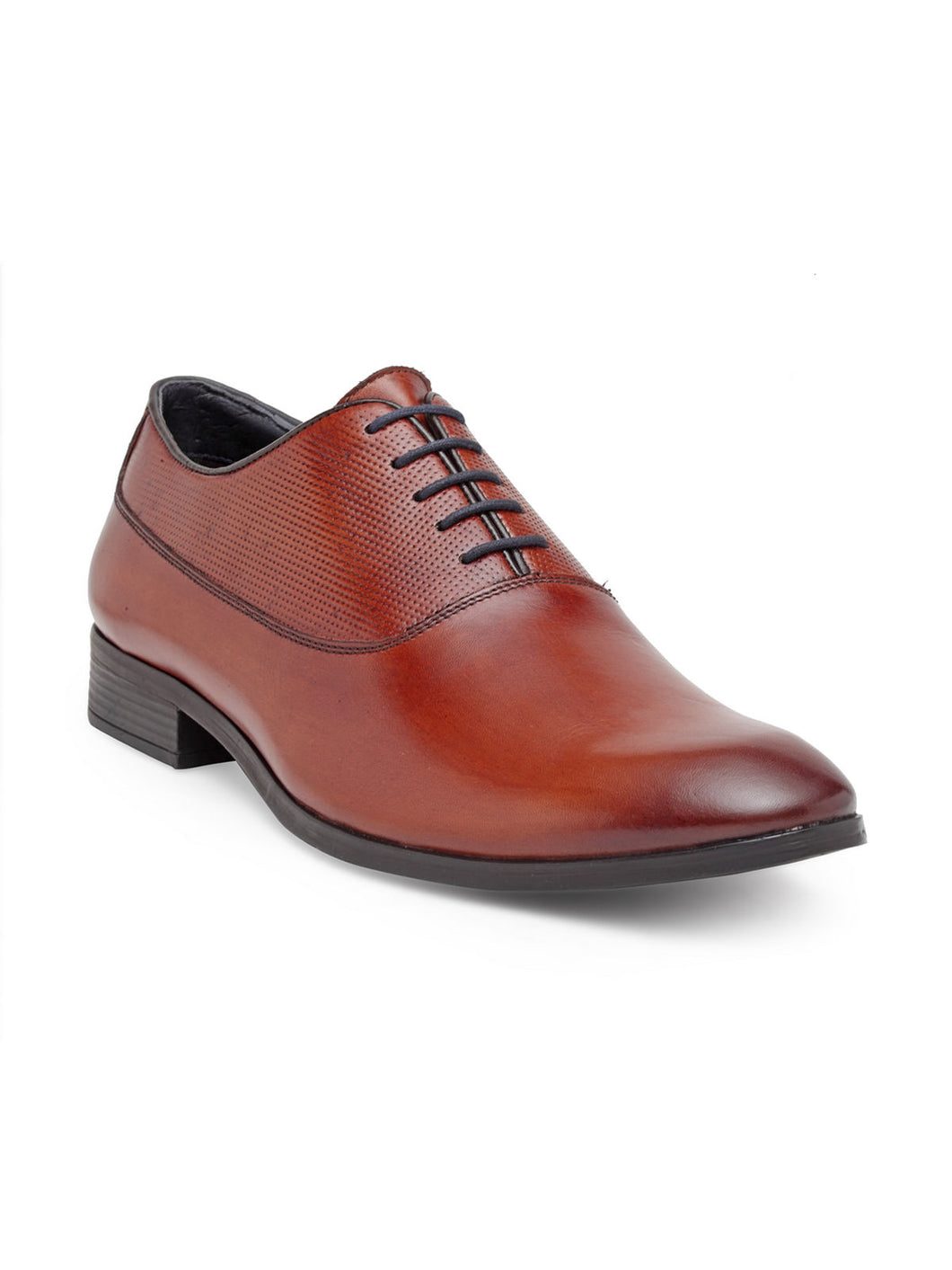 Teakwood Genuine Leather Tan Oxford Shoes