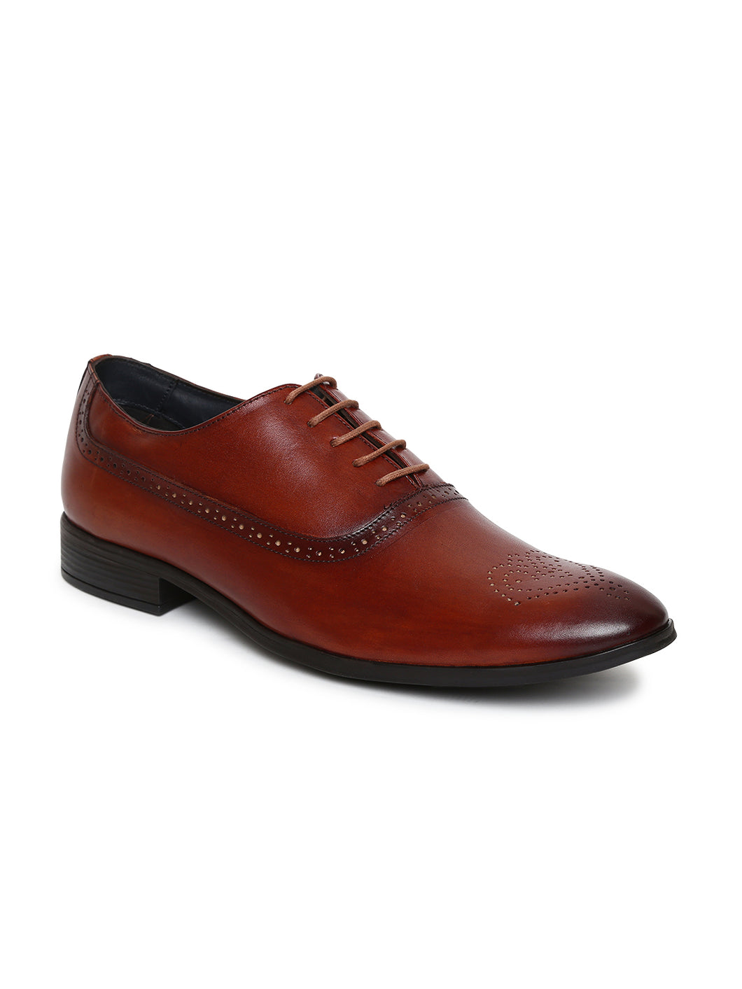 Teakwood Genuine Leather Brown Shoes