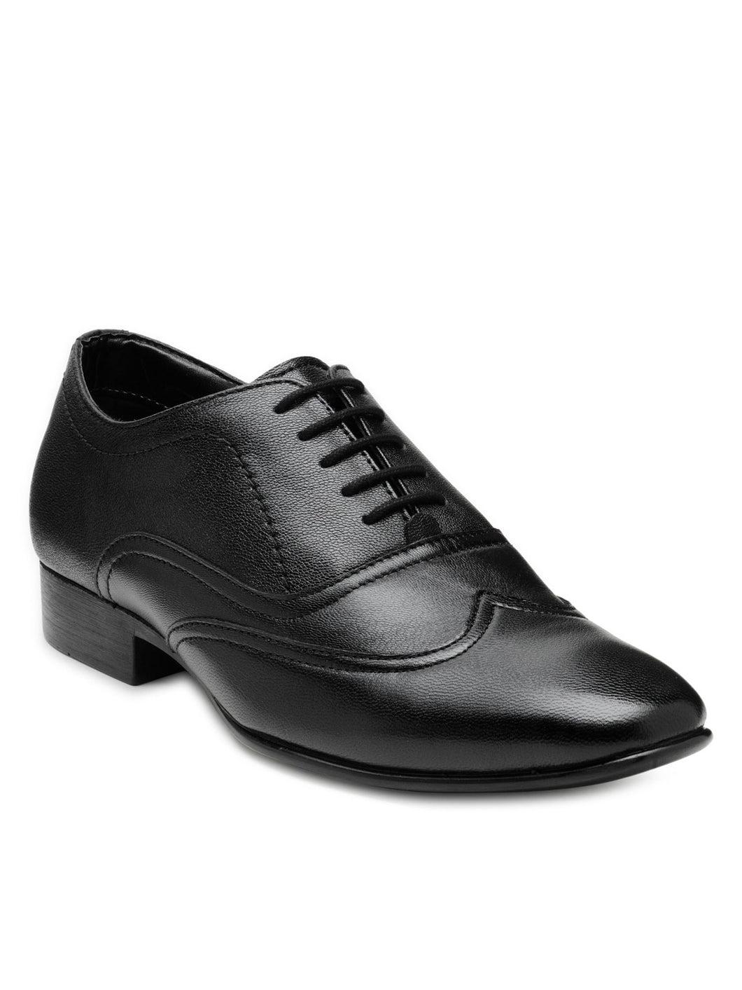 Teakwood Leather Men's Black Derby Shoes