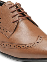 Load image into Gallery viewer, Teakwood Leather Men's Tan Derby Shoes