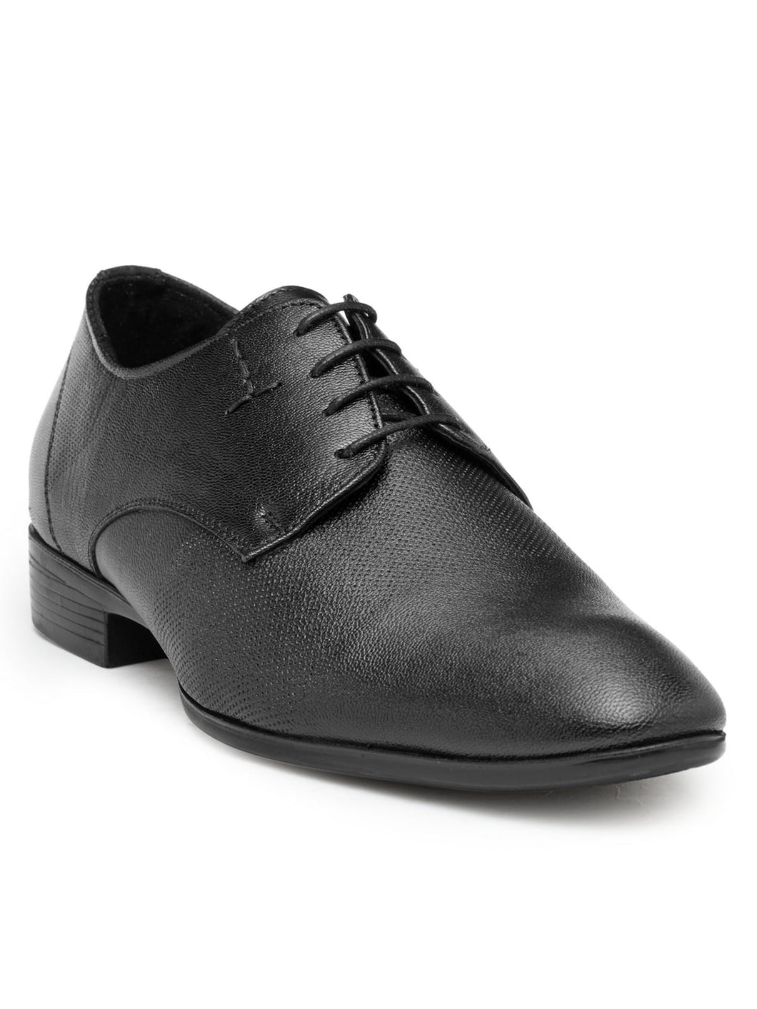 Teakwood Leather Black Formal Shoes