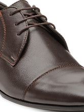 Load image into Gallery viewer, Teakwood Leather Men's Brown Derby Shoes