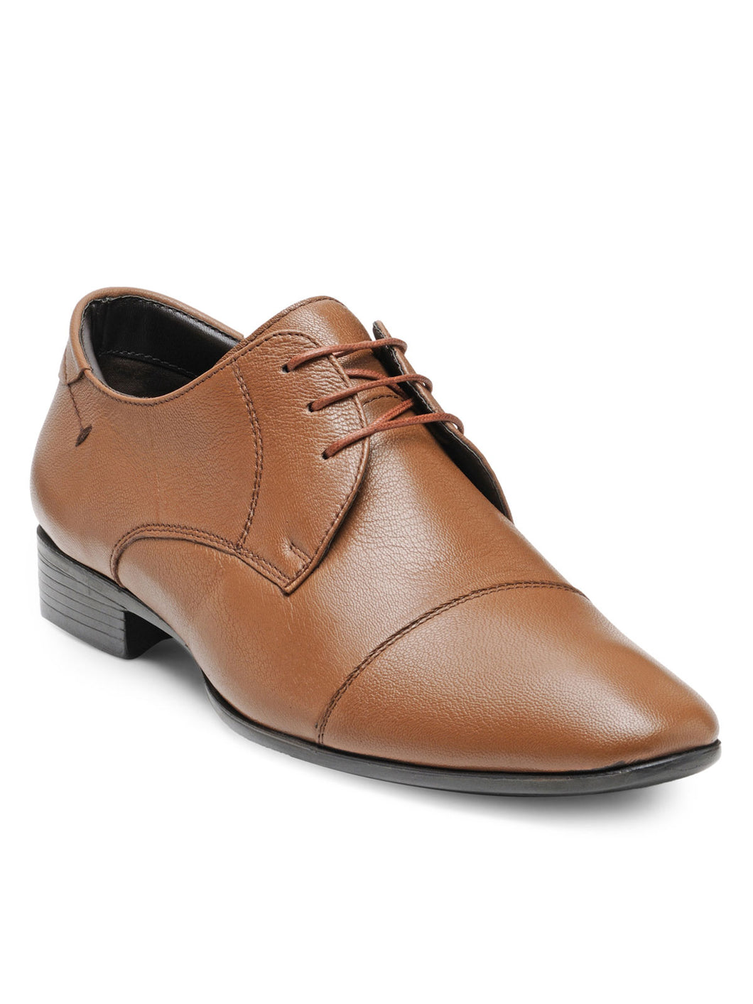 Teakwood Leather Men's Tan Derby Shoes
